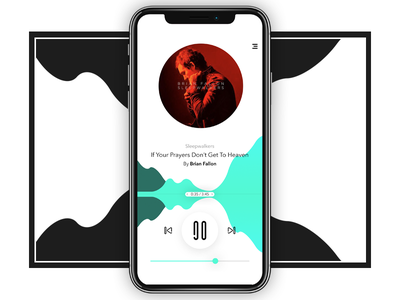 Music Player music player colourful ui mobile design ux concept player music