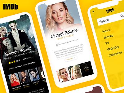 Daily UI #006 - User Profile     IMDb Concept user profile ux ui mobile app movie profile imdb finland design web dailyui