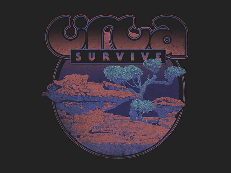 CIRCA SURVIVE - formations circa survive circa vintage retro sci-fi science fiction nature space rock merch texture