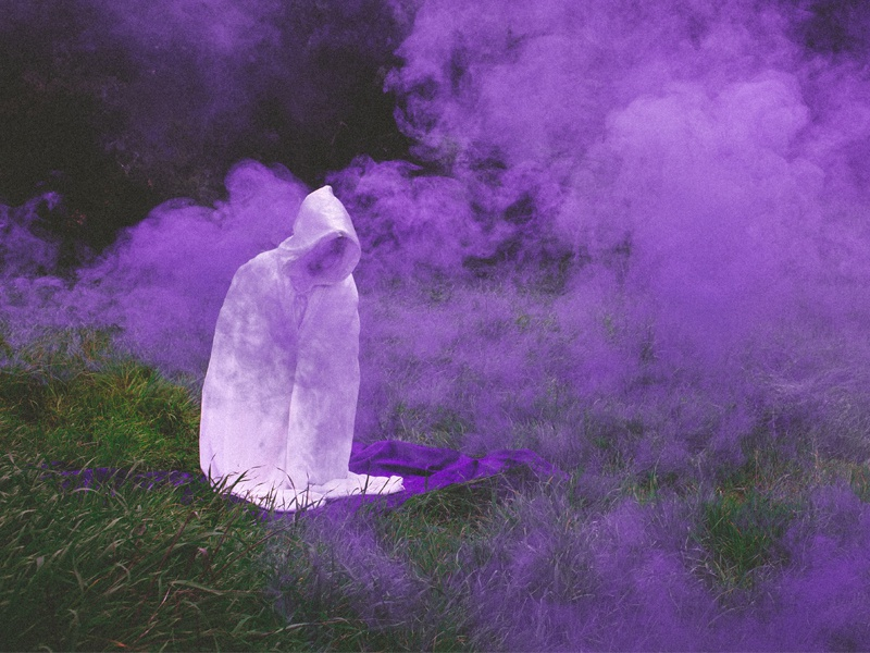 BTBAM - Life in Velvet lush velvet photography rock metal purple smoke robe btbam