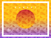 Triangulated Gradient Backgrounds - Sunset