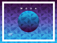 Triangulated Gradient Backgrounds - Moon