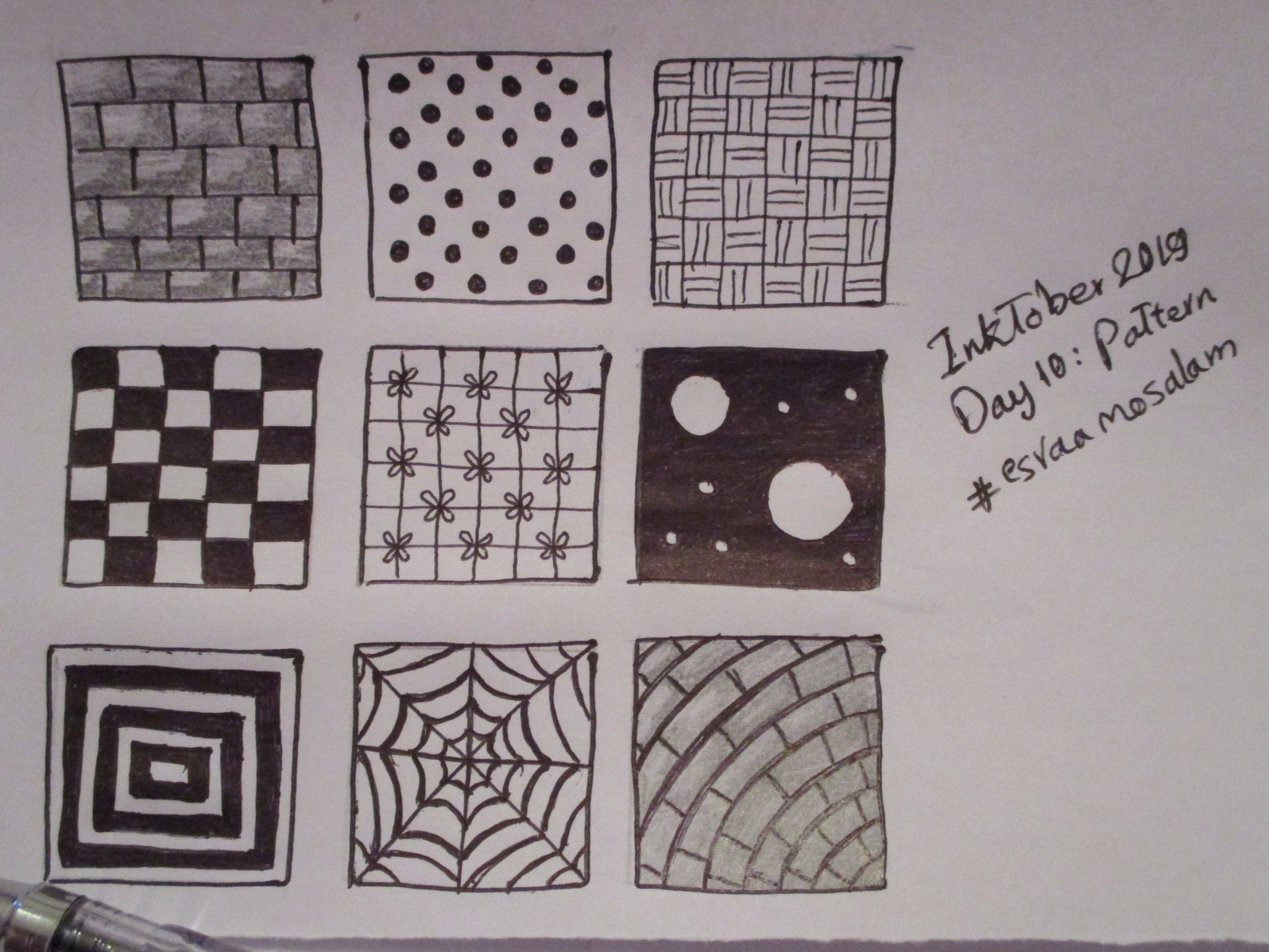 Pattern Inktober 2019