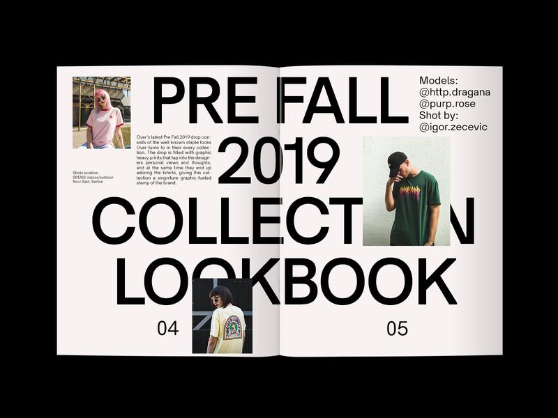 Over PF19 Lookbook graphic design lookbook overclothing over agency studio bbbrick design graphicdesign graphic editorial printdesign print