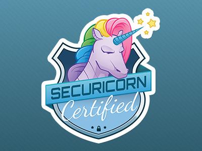 Securicorn Sticker unicorn crest rainbows sticker