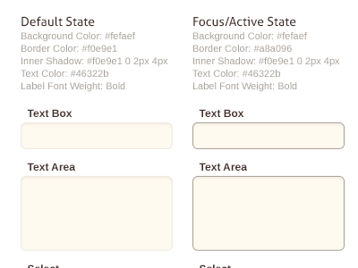 Style Tile Forms charlotte startup style tile interface guideline