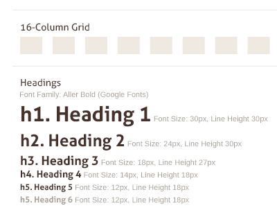 Grid & Baseline Basic Content style tile grid typography charlotte startup
