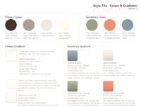Style tile colors gradients