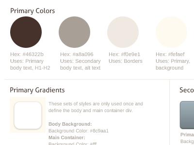 Style tile colors gradients tile