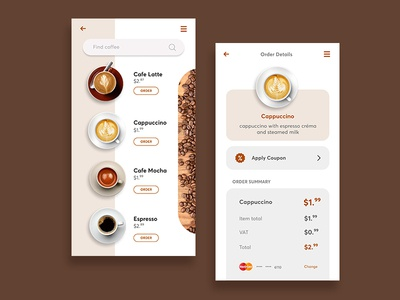 Coffeeapp Order Page