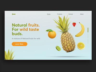 Juice  Landing Page fruitful webpage design webpage juice fruits ux typography ux ui design uidesign ui