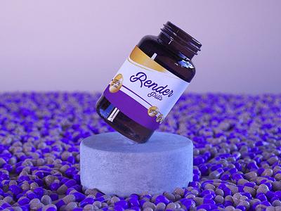 Render Pills branding animation 2d pills modelling product render cinema 4d 3d