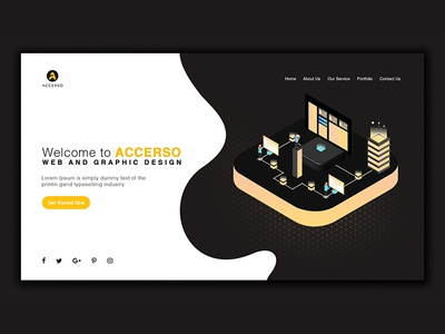 Accerso Landing Page