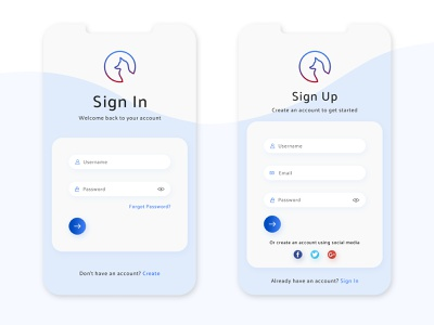 Sign in and Sign up Design mobile design sign up form sign in page web illustrator icon logo ux ui vector typography illustration