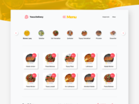 Food Delivery Menu with Free Adobe XD file