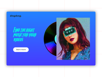 Landing for music themed page + Artwork freebie