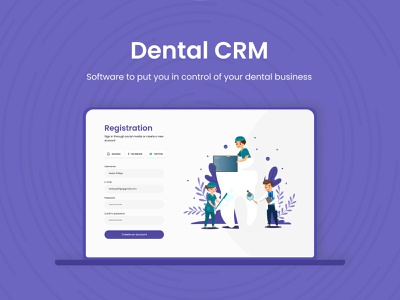 Dental CRM design ux ui patient medicine stomatology clinic booking treatment doctor dashboard appointment system crm management dental dentist
