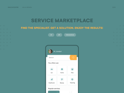 Service Marketplace App healthcare ios homepage home marketplace 2020 design 2020 clean ux ui mobile design mobile ui mobile app design mobile app design