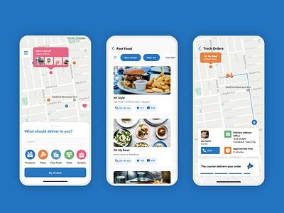 Food Delivery App delivery app tracking food delivery food app application design mobile design app mobile ui mobile app design mobile app ux ui design