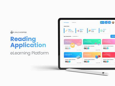 Reading Application - eLearning Platform kids ipad designs teacher ios school education app elearnig app ux ui design