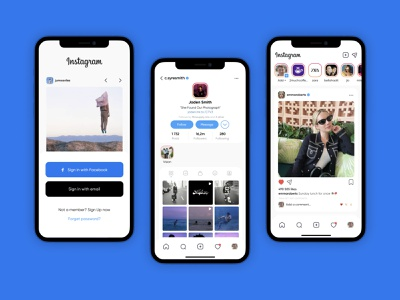 Instagram Redesign android mobile design mobile ui mobile app design mobile app app design ios redesign ux ui instagram