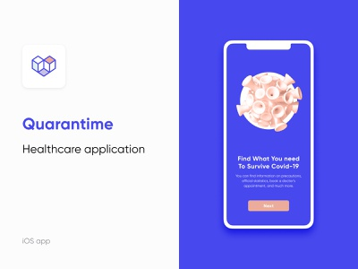 Quarantime - Find What You Need to Survive COVID-19 ux illustration logo ui healthcare covid19 coronovirus uxtrends dsgn mobiledesigning uxresearch usability newlogo interfacedesign app uidesign uxdesign