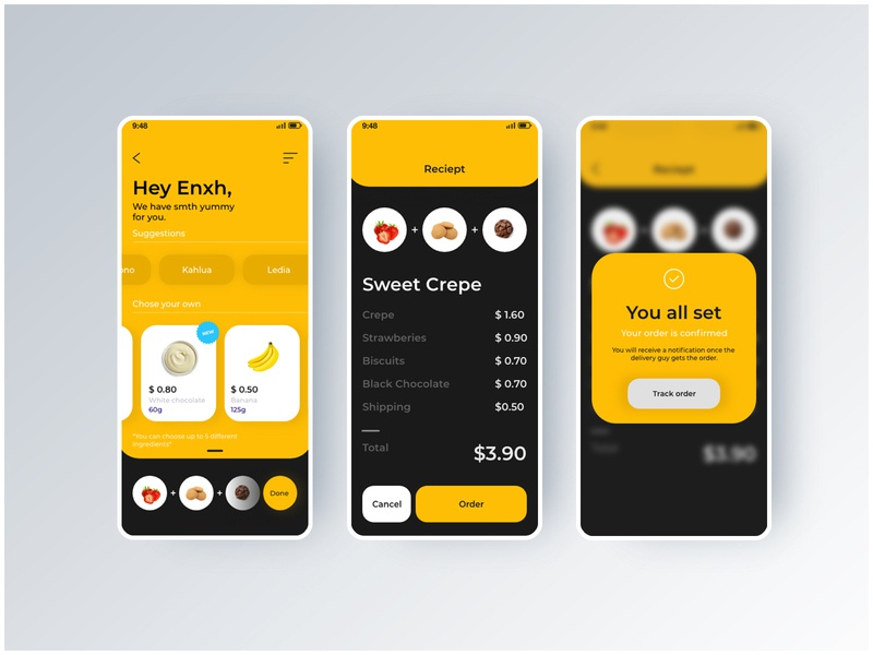 Food App  UI / Day #1 UI Challenge