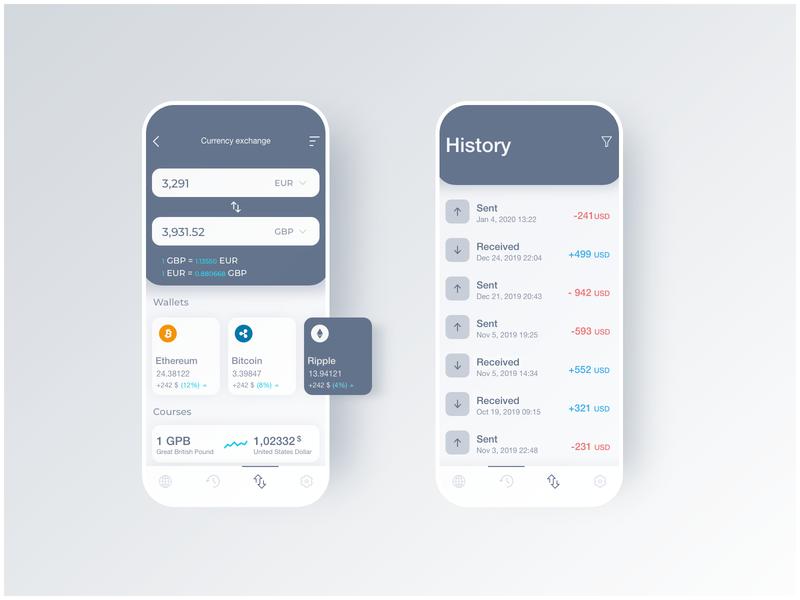Money Exchange UI / Day #2 UI Challenge
