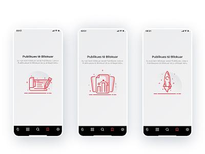 Buletin App / Blocked Sources Screens