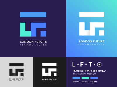 London Future Technologies Logo Design cpu lgoo startup logo computer logo modern logo future  logo technology logo london logo tech logo tech company