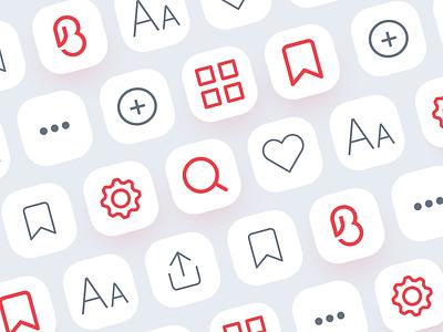Buletin App Icon Set menu icon add icon save icon like icon settings icon search icon preferences icon home icon info menu add save like settings search preferences home icon buletin app buletin