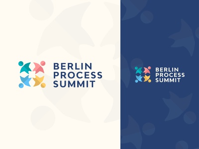 Berlin Process Summit Logo Concept different colours branding state logo society logo company logo friends logo people logo process logo summit logo summit community community logo