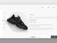 Balenciaga Web Design