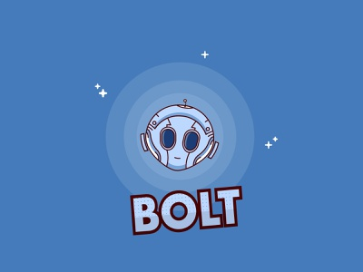 Bolt Robot - Weekly Warmup face illustration space metal eyes adobe xd stars start logo minimal circle shapes modern illustrator cute cute illustration cute robot robot bolt illustration robot illustration