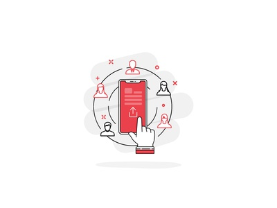 UI Illustration // Share Button