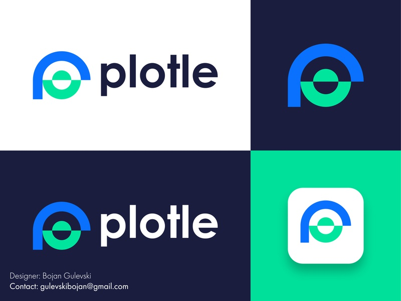 Plotle Logo design | Smile logo | P Logo brand designer logo designer professional logo design abstract logo happiness smile logo design user logo p logo design minimalist logo minimalist creative branding flat professional design logo p icon p logo design p logo
