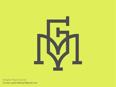 M + G Initial logo minimal minimalist pencil monogram gm logo mg logo mark logo initials logo initial logo initials initial g monogram m monogram g logo m logo g letter logo m letter logo m letter g letter
