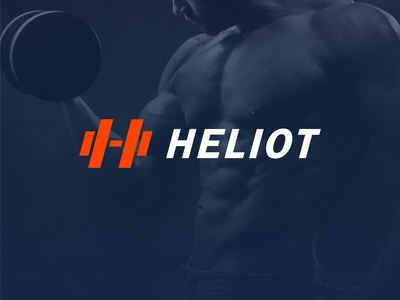 Heliot - Gym Logo Design h logo design logo gym logo design dumbell logo sports sports logo healthcare workout app fitness logo fitness app gym app gym logo dumbell sport health weight workout fitness gym