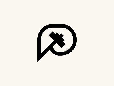 Dumbell + P Logo brand brand identity branding and identity professional minimalist logo design logo branding fitness app fitness logo workout fintess p logo dumbell logo dumbell p p dumbell dumbell weight pictorial logo pictorial mark