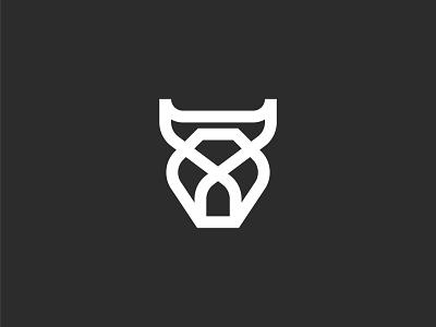 Bull logo design abstract modern simple minimal creative flat minimalist professional logo design branding head cow company business design logo bull