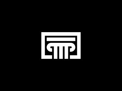 Ancient pillar building logo abstract antique icon greek pillar masonry stone building financial ancient o p q r s t u v w x y z a b c d e f g h i j k l m n vector creative flat minimalist branding professional design logo