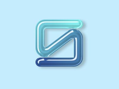3D S Logo Design gradient 3d s logo s logo design 3d effect 3d design effect graphic design liquid 3d vector ui illustration creative minimalist flat branding professional design logo