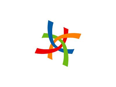Cross Logo Mark for MediServe Testing overlapping cross design cross health medic logo designer creative minimalist flat branding professional design logo
