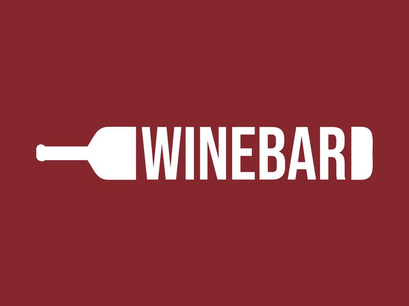Wine Bar professional flat design creative logo wine bottle logo bottle logo wine bottles bottles bottle wine bottle red glass wine glass of wine bar logo wine logo winebar bar wine wine bar