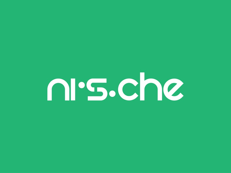 Nische type art flat logo calligraphy clean logo text minimalist logo clean text logo minimalist vector icon branding professional flat design creative logo type typo logo typography