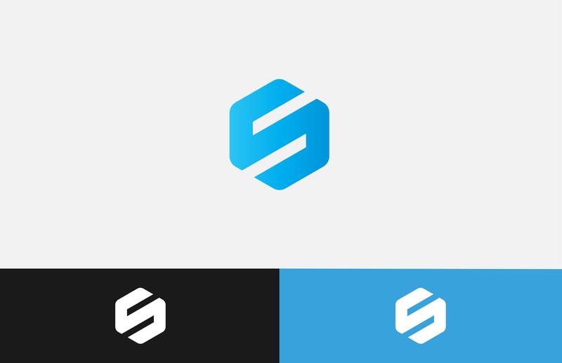 S Logo Version 2. s hexagone hexagonal hexagon logo hexagons hexagon s logos s s logo blue gradient minimalist logo minimalist clean branding vector icon professional flat design logo creative