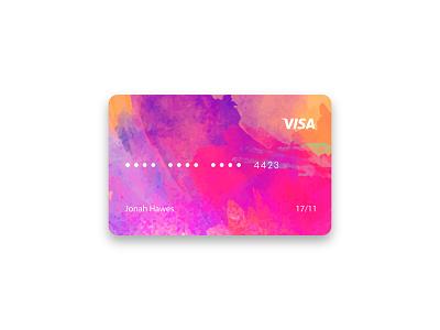 Watercolor Credit Card Design ui 2019 illustration branding professional creative design bank card bank watercolor name card card design cards card business card design bussines card credit cards creditcard credit credit card
