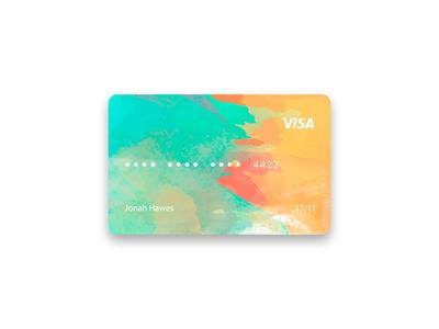 Watercolor Credit Card Design