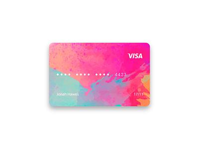 Watercolor Credit Card Design stationery business card design business card name card debit card debit credit card design credit cards credit card cards card design card ui 2019 illustration branding logo professional creative design