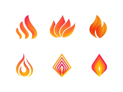 Fire Logo Icons tech power firstshot minimal minimalist logo icon branding flat design logo abstract heat ignite logo ignite flame icon flame torch fire fire icon fire logo